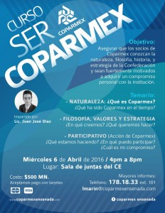 flyer curso ser coparmex