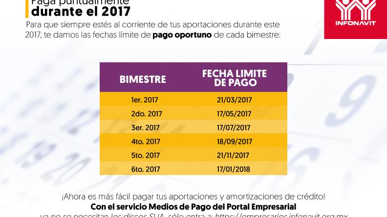 Calendario de Pago Oportuno 2017 792x612 px