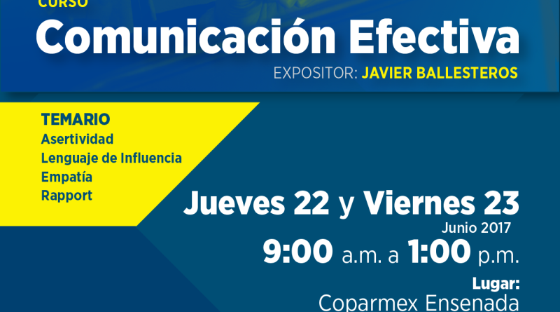 flyer curso junio 2017 comunicación efectiva