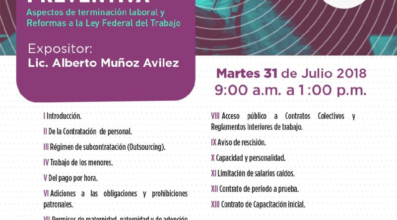 CURSO REGULACION LABORAL PREVENTIVA